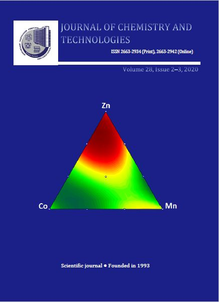 View Vol. 28 No. 3 (2020): Journal of Chemistry and Technologies